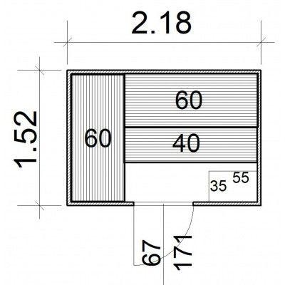 Afbeelding 5 van Azalp Massieve sauna Rio Standaard 218x152 cm, 39 mm