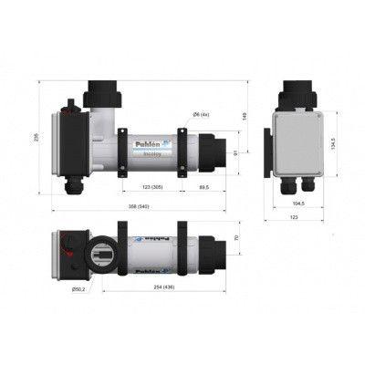 Afbeelding 3 van Pahlen 3 kW elektrische verwarmer voor zwembaden