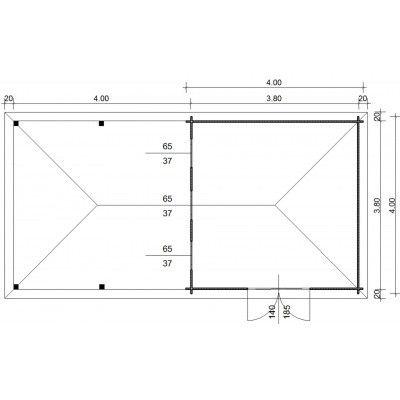 Bild 23 von Azalp Blockhaus Cas 790x400 cm, 45 mm