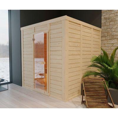 Afbeelding 13 van Azalp Massieve sauna Genio 240x230 cm, 45 mm