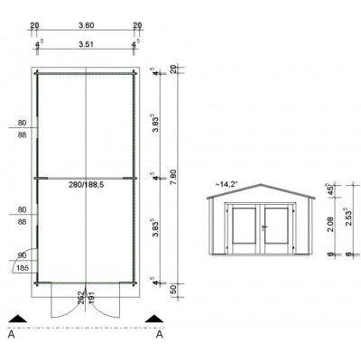 Afbeelding 65 van Azalp Garage Thijs 380x800 cm, 45 mm