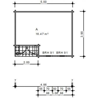 Bild 2 von Azalp Blockhaus Cottage Style Cumberland 520x430 cm, 60 mm