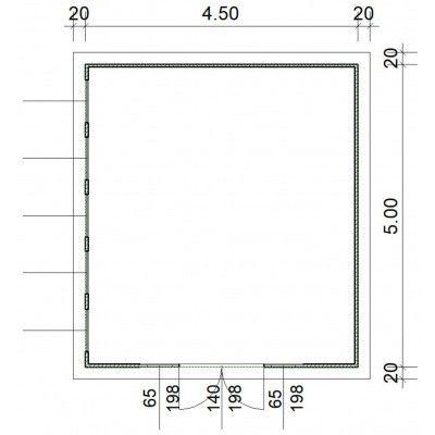 Bild 2 von SmartShed Blockhaus Zenon 450x500 cm, 45 mm