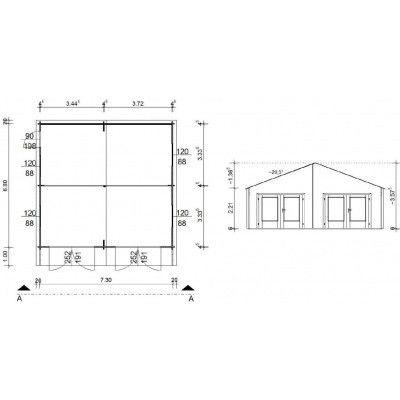 Afbeelding 18 van Azalp Garage Madrid 750x700 cm, 45 mm