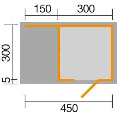 Afbeelding 2 van Weka 413A Gr.2, 450x300 cm antraciet