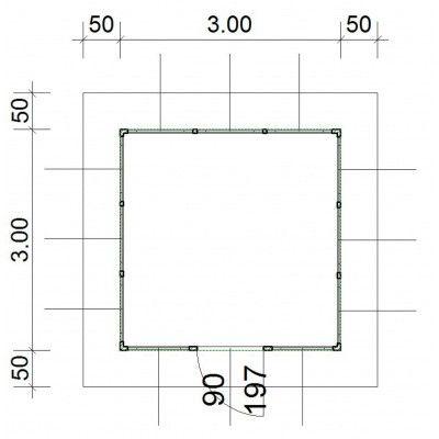 Afbeelding 4 van SmartShed Blokhut Amando 300x300 cm, 45 mm