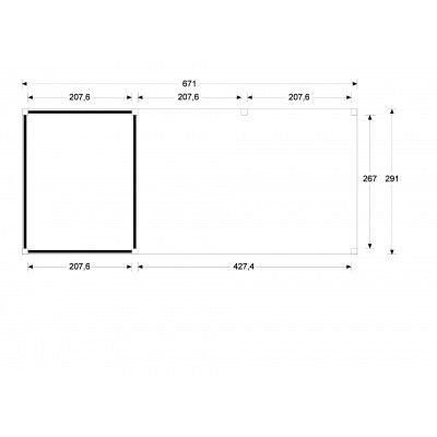 Afbeelding 5 van WoodAcademy Earl Nero Overkapping 680x300 cm