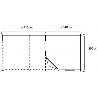 Afbeelding 20 van Interflex 3555Z, zijluifel 400 cm, geïmpregneerd