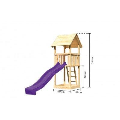 Afbeelding 2 van Akubi Speeltoren Lotti met glijbaan (89344)