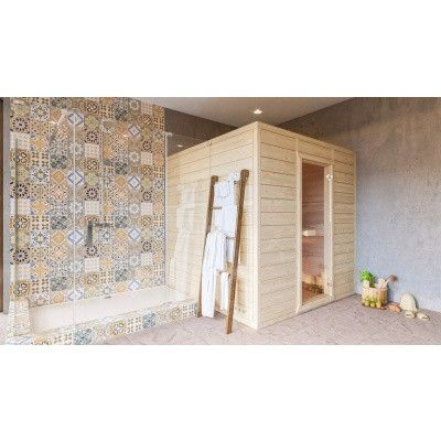 Afbeelding 4 van Azalp Massieve sauna Eva 180x180 cm, 45 mm