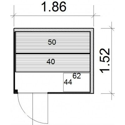 Afbeelding 44 van Azalp Prisma elementsauna 186x152 cm, elzen