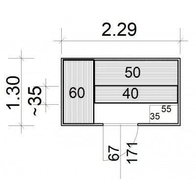 Afbeelding 5 van Azalp Massieve sauna Rio Standaard 229x130 cm, 39 mm
