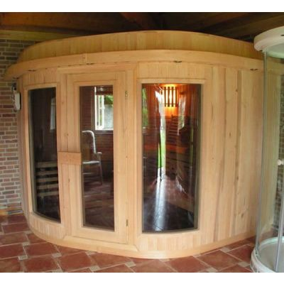 Afbeelding 4 van Azalp Sauna Runda 280x237 cm elzen