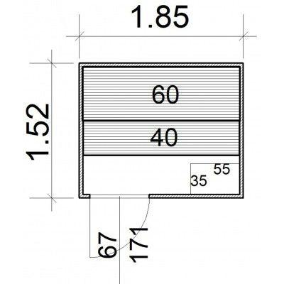 Afbeelding 5 van Azalp Massieve sauna Rio Standaard 185x152 cm, 39 mm