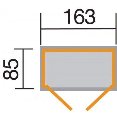 Afbeelding 2 van Weka Tuin- en terraskast Gr.2 14 mm lessenaar