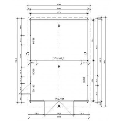 Afbeelding 4 van Azalp Garage Thijs 500x700 cm, 45 mm