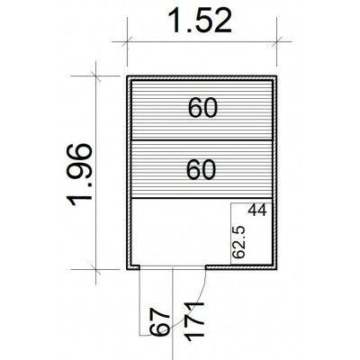 Afbeelding 5 van Azalp Massieve sauna Rio Standaard 152x196 cm, 39 mm