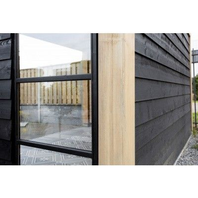 Afbeelding 7 van WoodAcademy Nefriet excellent Nero blokhut 580x400 cm