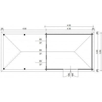 Bild 23 von Azalp Blockhaus Cas 840x350 cm, 45 mm