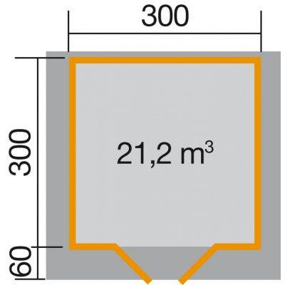Afbeelding 2 van Weka Tuinhuis Premium28 Gr. 4 met Luifel
