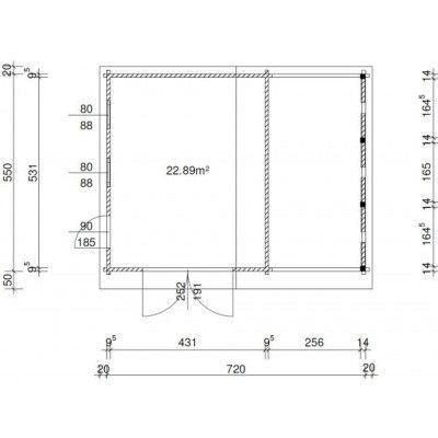 Afbeelding 36 van Azalp Garage Vigo 740x570 cm, 95 mm