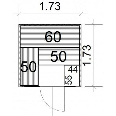 Afbeelding 4 van Azalp massieve sauna Rio Glass 173x173 cm, 39 mm