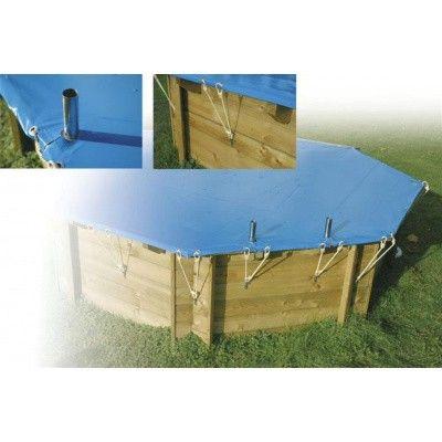 Afbeelding 4 van Ubbink afdekzeil voor Azura 750 x 400 cm (8-hoekig) ovaalvormig zwembad