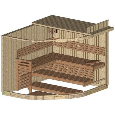 Bild 21 von Azalp Sauna Runda 263x220 cm, Espenholz