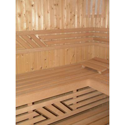 Afbeelding 2 van Azalp Saunabank recht, Elzen breedte 50 cm