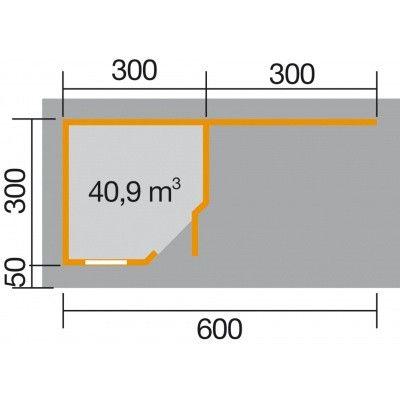 Afbeelding 2 van Weka Designhuis 213B Gr.2, 601x298 cm grijs