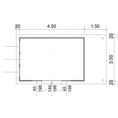 Afbeelding 3 van SmartShed Blokhut Isidro 450x300 cm, 45 mm