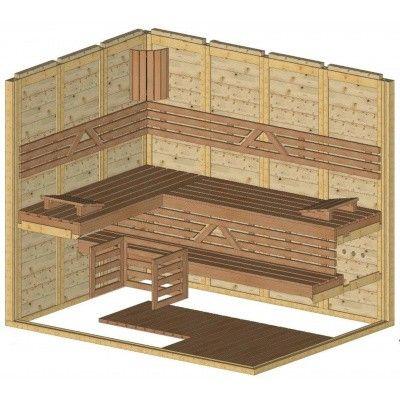 Afbeelding 44 van Azalp Massieve sauna Genio 180x240 cm, 45 mm