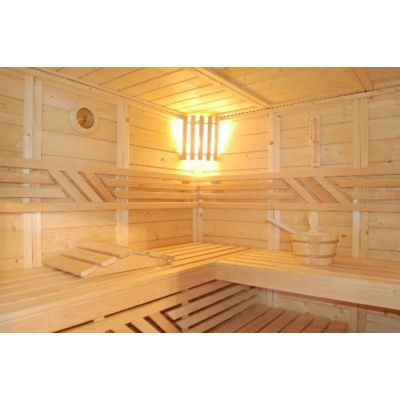 Afbeelding 2 van Azalp Massieve sauna Genio 180x180 cm, 45 mm