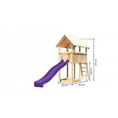 Afbeelding 2 van Akubi Speeltoren Danny met glijbaan (89356)