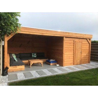 Bild 4 von WoodAcademy Bristol Douglasie Gartenhaus 780x300 cm
