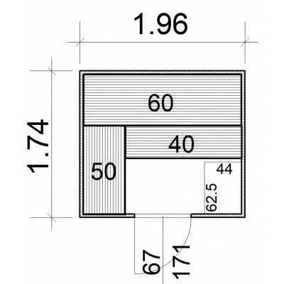 Afbeelding 5 van Azalp Massieve sauna Rio Standaard 196x174 cm, 39 mm