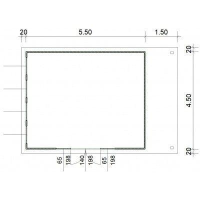Afbeelding 3 van SmartShed Blokhut Isidro 550x450 cm, 45 mm