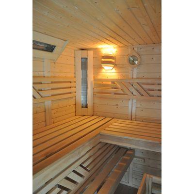 Afbeelding 3 van Azalp Saunabank recht, Elzen breedte 50 cm