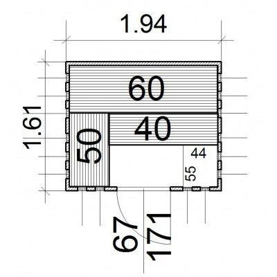 Afbeelding 13 van Azalp massieve sauna Alku 194x161 cm, 40 mm