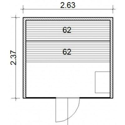 Afbeelding 64 van Azalp Lumen elementsauna 263x237 cm, elzen