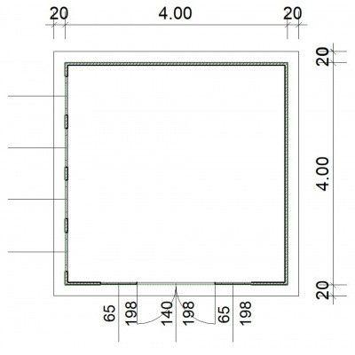 Afbeelding 2 van SmartShed Blokhut Zenon 400x400 cm, 45 mm