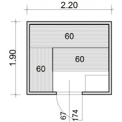 Afbeelding 43 van Azalp Massieve sauna Genio 220x190 cm, 45 mm