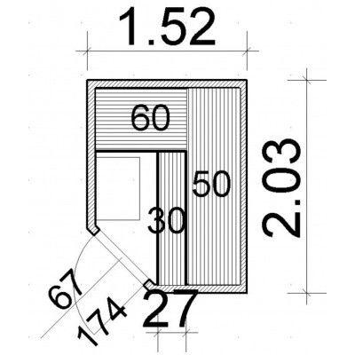 Afbeelding 52 van Azalp Elementhoeksauna 152x203 cm, elzen