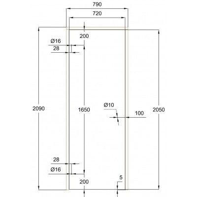 Afbeelding 7 van Ilogreen Saunadeur Trend (Elzen) 209x79 cm, melkglas