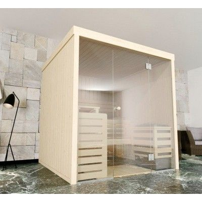 Afbeelding 3 van Azalp Massieve sauna Rio Glass 239x217 cm, 39 mm