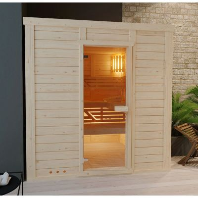 Hoofdafbeelding van Azalp Massieve sauna Genio 180x180 cm, 60 mm