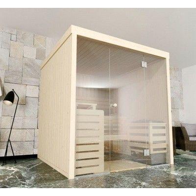 Afbeelding 3 van Azalp Massieve sauna Rio Glass 217x217 cm, 39 mm