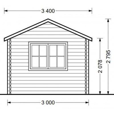 Bild 8 von Graed Oak Blockhaus 595x300 cm, 44 mm