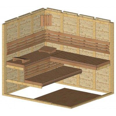 Afbeelding 35 van Azalp Sauna Luja 190x230 cm, 45 mm