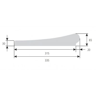 Bild 4 von Trend Pool Beckenrandsteine Tahiti 800 x 400 weiß (für Ovalbecken)
